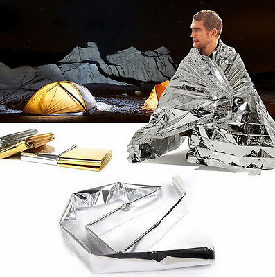 Emergency Survival Rescue Space Foil Thermal Blanket First Aid Blanke new