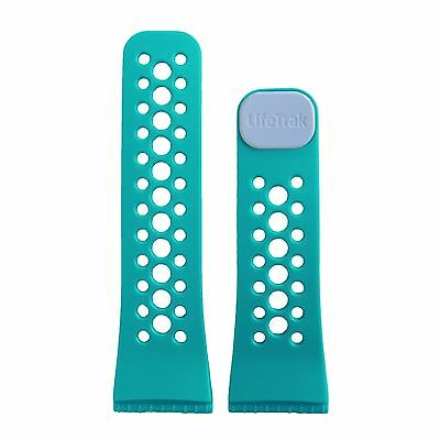 LifeTrak Ultra-Soft Silicone ComfortFit Band in Sweet Water Blue / Arctic White