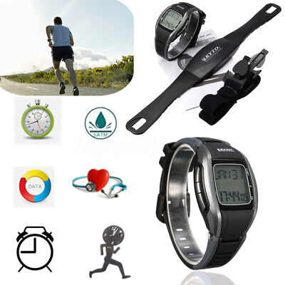 LCD Pulse Heart Rate Watch Fitness Monitor Calorie Counter Gym Sport Waterproof