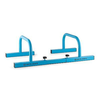 Barre Parallele Paralettes Paio Blu Sport Fitness Flessioni Push Up Handstand