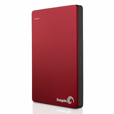Seagate Backup Plus Slim 500GB Portable External Hard Drive USB 3.0 HDD RED