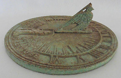 Vintage Antique Style Sundial GROW OLD ALONG WITH ME THE BEST IS YET TO BE