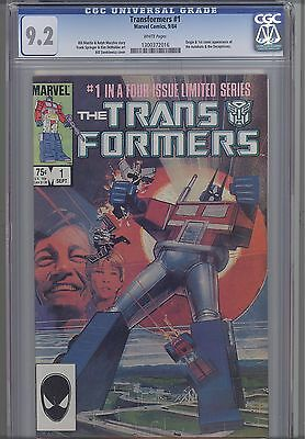 Transformers #1 CGC 9.2  Marvel 1984  Movie based  Comic