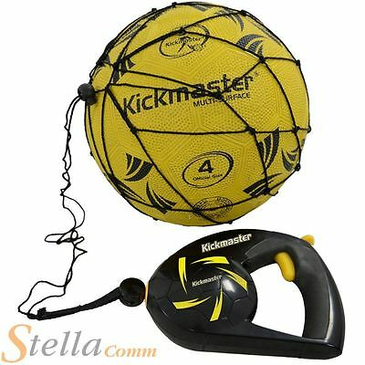 Kickmaster Close Control Football Skills Trainer Shoot Pass Recoil Action Net