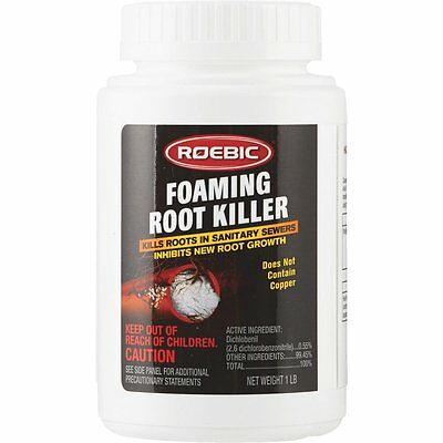 Roebic 1-LB Foaming Root Killer Sewer Septic Drain Cleaner Use Annually