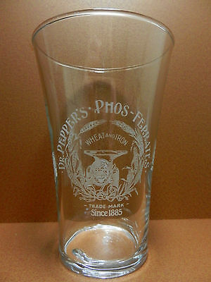 Dr. Pepper's Phos - Ferrates Wheat and Iron 100th Anniversary 1885-1985 Glass