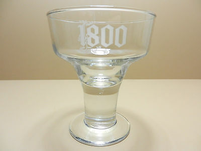 Jose Cuervo 1800 Etched Cocktail Glass Mexican Tequila