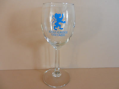 Kings Garden Vineyards Stemmed Winery Glass Finger Lakes Wine Lodi New York