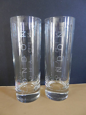 Pair of Beefeater 1820 London Dry Gin Cocktail Glasses Set of Two