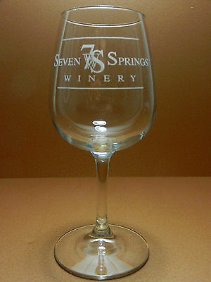 Seven Springs Winery Stemmed Wine Glass Linn Creek Missouri