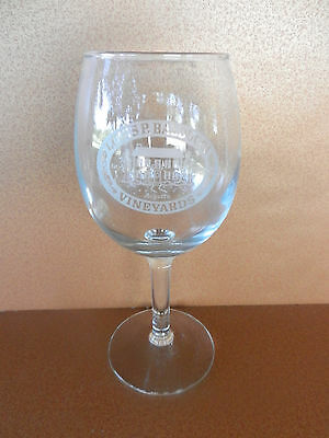 Louis P. Balducci Vineyards Stemmed Winery Etched Glass