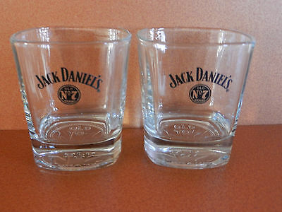 Pair of Jack Daniel's Old No. 7 Brand Tennessee Whiskey Glasses Embosssed
