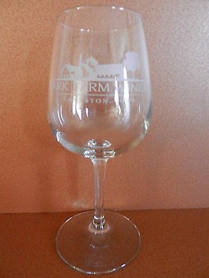Park Farm Winery Stemmed Wine Glass Bankston Iowa Etched