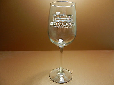 Red Caboose Winery and Vineyards Stemmed Wine Glass Meridian Texas Bosque County