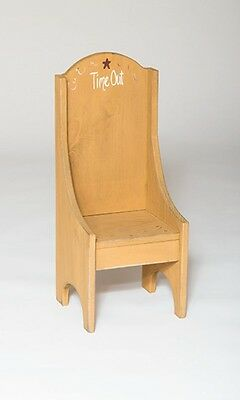 Rustic Primitive Country Time Out Children's Chair Amish Made in USA