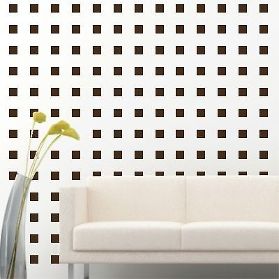 """2"""" Set of 200 Brown Squares Shape Wall Decal Vinyl Sticker Wall Pattern Decor"""