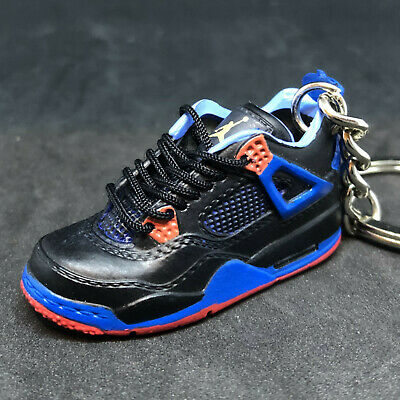 new style 11a80 e1934 Air Jordan Iv 4 Retro Cavs New York Knicks 3D Sneakers Shoes Keychain  Figure 1