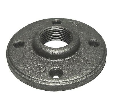 3/4 Inch Black Iron Pipe Malleable Floor Flange Fittings Plumbing