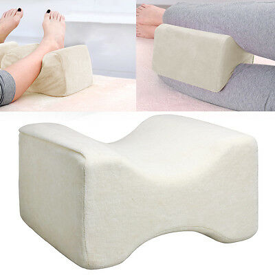 Designed Memory Foam Leg Pillow Orthopaedic Firm Back Hips& Knee Support + Cover