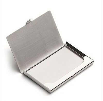 1PCS stainless steel Pocket Name Credit ID Business Card Holder Box Case new
