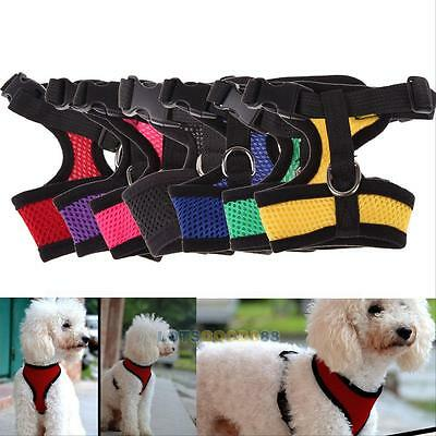 Puppy Pet Dog Soft Mesh Control Harness Doggy Cat Safety Strap Walk Collar Vest