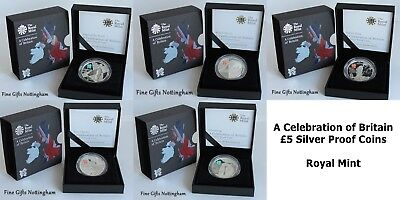 Celebration of Britain £5 Silver Proof Coins - London 2012 Olympics - Royal Mint