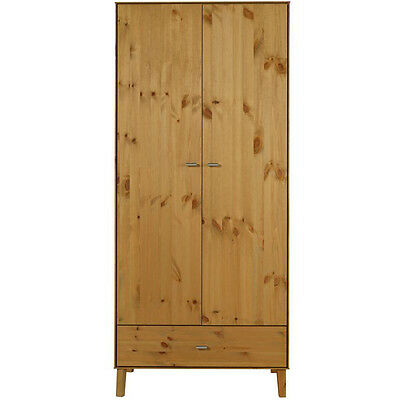 ANGLE - Solid Wood Double Wardrobe with Drawer - Oak ZSF3591010028