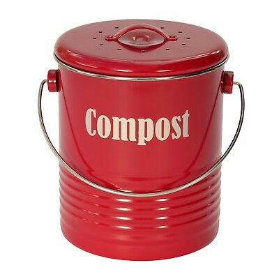 Typhoon Red Compost Caddy / Compost Bin / Kitchen Caddy