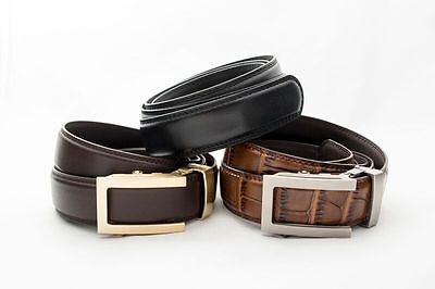 """Anson Belt & Buckle Holiday Gift Box 6 Possible Holeless Belt Combinations 1.25"""""""