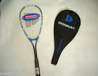 New!!!  Donnay Power String Adult Alloy Squash Racquet & Cover