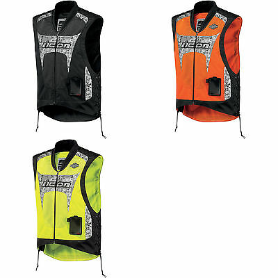 Icon Men's Interceptor Mesh Reflective Street Motorcycle Vest - Any Color, Size