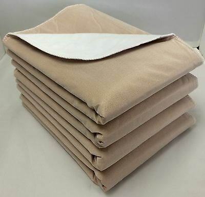 24-30x30 Washable Reusable Dog Training Puppy Pee Pads Whelping Tan backing