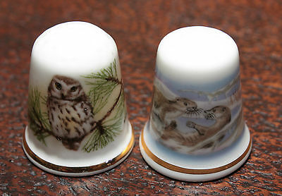 THIMBLES - WEDGWOOD OTTERS and OAKLEY OWL SKU16108