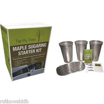 Tap My Trees Maple Sugaring / Syrup Tapping Starter Kit with Metal Buckets