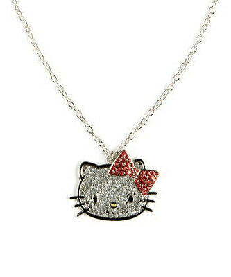 Loungefly Hello Kitty Face Rhinestone Necklace