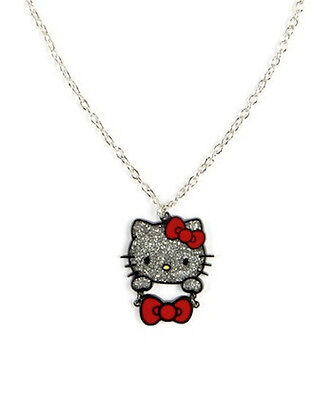 Loungefly Hello Kitty Face Glitter Necklace