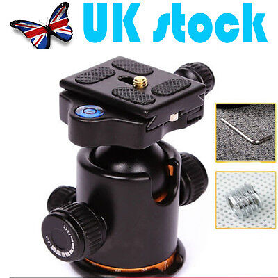 UK-Metal Ball Head Ballhead With Quick Release Plate for Tripod DSLR Camera