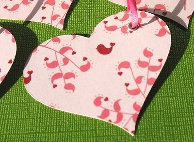 Love Birds - Pink Heart Gift Tags