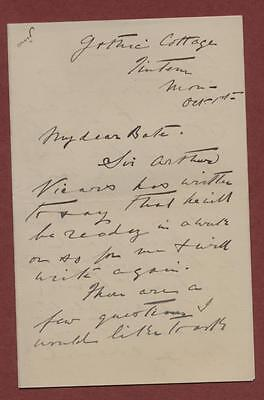 Letter. c.1905. Edwin Swan to Percy Bate (Curator).  Irish Painter db.136