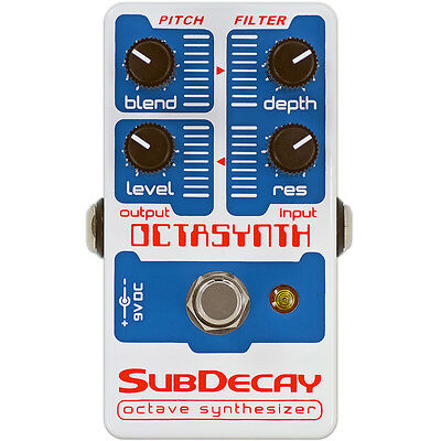 Subdecay Octasynth – Octave synthesizer guitar effect pedal Brand new