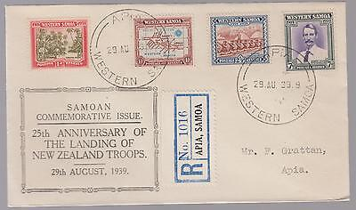 1939 Western Samoa first day  cover  to Apia FDC new zealand landing troops
