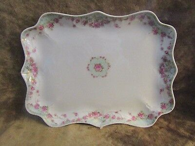 Vintage Carl Tielsch/GERMANY/Vanity Tray/Pink Roses/VERY GOOD CONDITION!