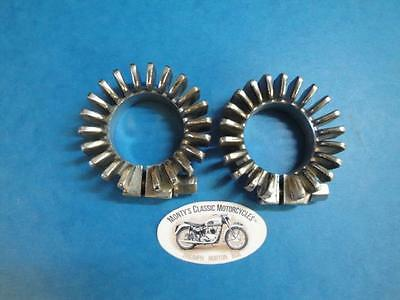 Triumph Stainless Steel Finned Exhaust Clamps E 4947  3Ta 5Ta T90 T100Ss T100R