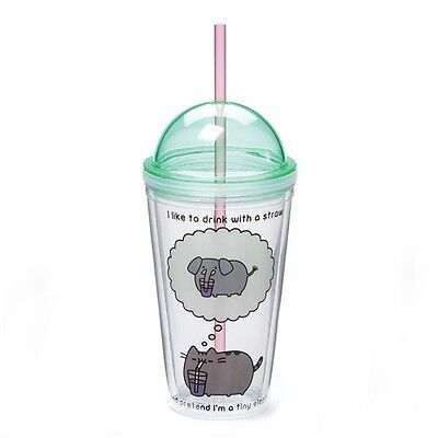 Pusheen the Cat 16 oz. Tumbler Licensed Tumbler & Straw Travel Cup
