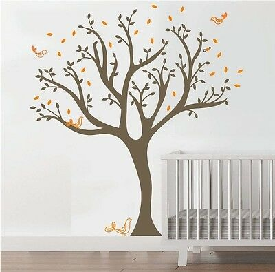 Wall Stickers xlarge tree bird baby kids Removable Vinyl Decal Art Mural Decor