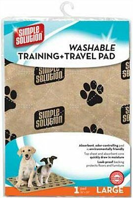 2 Packs of Simple Solution Washable Training and Travel Pad Large 30x32