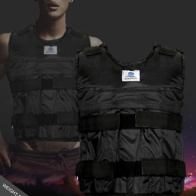 Zooboo 44LBS/20KG Adjustable Weight Weighted Vest Exercise Fitness Training