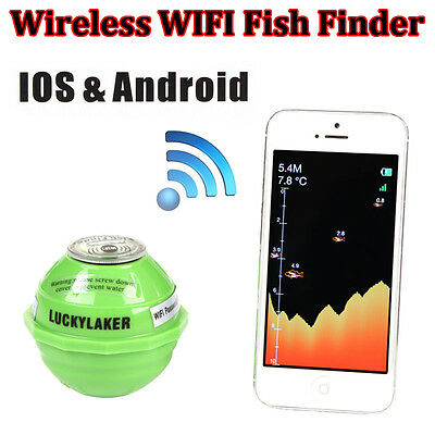 Lucky WIFI Portable Wireless Fish Finder Alarm 50M For Iphone Ipad IOS & Android