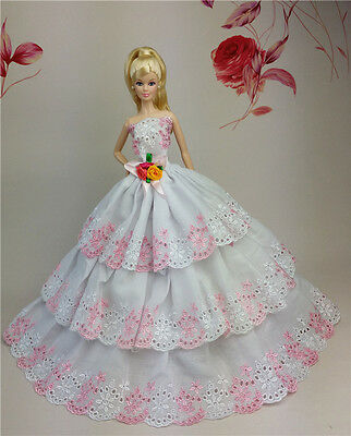Fashion Princess Dress/Wedding Clothes/Gown for 11.5in.Doll S98