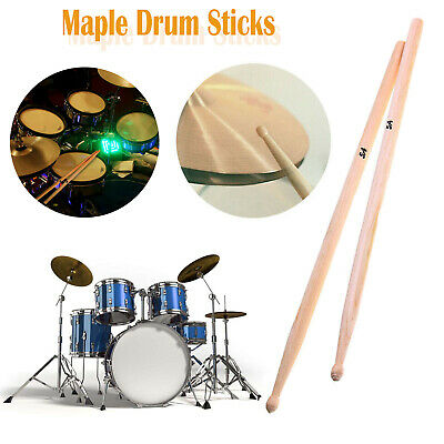 1 Pair Drum Sticks High Quality Maple Wood Tip Drumsticks 5A Percussion Sticks